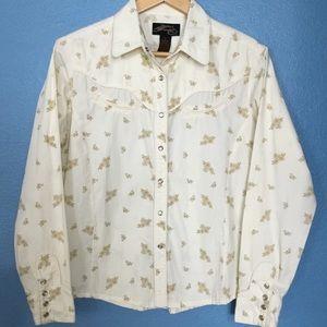 Rockabilly cowgirl pearl snap shirt